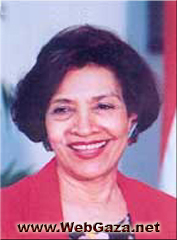 Hoda Badran - Chairperson of the Alliance for Arab Women (AAW), a voluntary organization headquartered in Cairo, Egypt