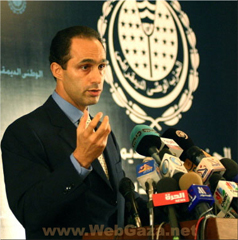 Jamal Mubarak - 47 year old son of President Hosni Mubarak, head of the National Democratic Party's Policies Committee.