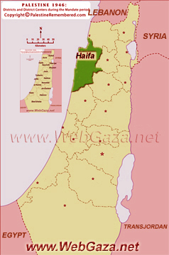 District of Haifa - One of the Palestine Districts-1948, find here important information and profiles from District of Haifa.