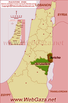 District of Jericho (Ariha) - One of the Palestine Districts-1948, find here important information and profiles from District of Jericho (Ariha).