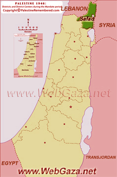 District of Safad - One of the Palestine Districts-1948, find here important information and profiles from District of Safad.