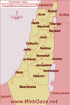 Palestine Districts-1948 - A comprehensive list of the Palestine Districts-1948, find here important information about the Palestine Districts 1948.