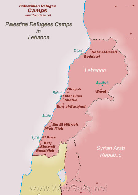 Palestinian Refugee Camps in Lebanon