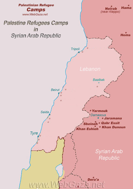 Palestinian Refugee Camps in Syria