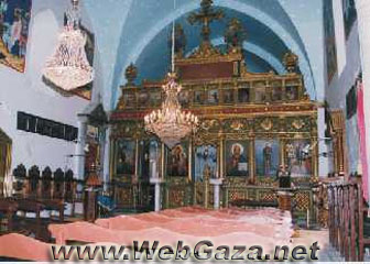 Roman Orthodox (Saint Perforius) Church - Saint Perforius was born in Greece. He came to Gaza on 395 AD accompanied by (Deacon Murqus) who wrote the biography of this saint.