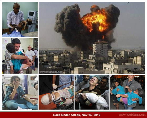 Gaza Under Attack, Nov 14, 2012