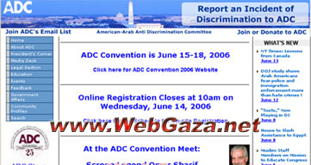 American-Arab Anti-Discrimination Committee (ADC) - Largest Arab-American grassroots organization in the US. Founded in 1980 by former U.S. Senator James Abourezk.
