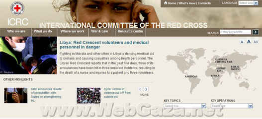 International Committee of the Red Cross - The ICRC, established in 1863, works worldwide to provide humanitarian help for people affected by conflict and armed violence and to promote the laws that protect victims of war.