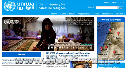 UNRWA - The UNRWA provides assistance, protection and advocacy for some 4.8 million registered Palestine refugees in Jordan, Lebanon, Syria and the occupied Palestinian territory, pending a solution to their plight.