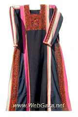 Burayr Dress #3 - Dress from Burayr, District of Gaza (Ghazzah).