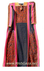 Burayr Dress #4 - Dress from Burayr, District of Gaza (Ghazzah).