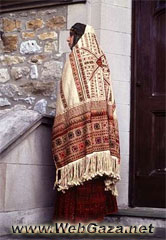 Al Khalil Dress - El Khalil traditional dress with a rare early 20th century (Ghudfeh) scarf.