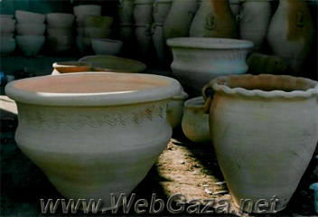 Pottery - Pottery making is an ancient industry in Palestine. The traditional shapes and designs used in contemporary pottery are similar to those found on artifacts unearthed at old archaeological sites.