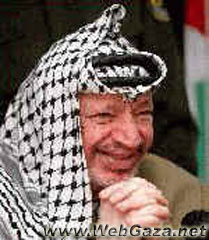Yasser Arafat - Elected president of the Palestinian Authority in public elections, with 88% of the votes in Jan. 20, 1996.