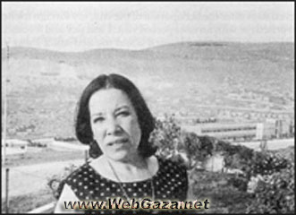 Fadwa Tuqan - Palestinian Poet, She is called the poet of love and pain, because her poetry deals with themes of personal and national love and loss.